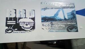 brd = volkstod - beispiel rechtsextremer plakatierung in dresden laubegast
