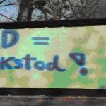 BRD = Volkstod - Beispiel rechtsextremer Schmierereien in Dresden Laubegast