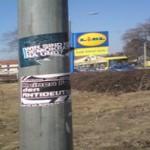 Wir sind keine Demokraten na und? - Beispiel rechtsextremer Plakatierung in Dresden Laubegsast