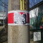 Die BRD vernichten meine Zukunft - Beispiel rechtsextremer Plakatierung in Dresden Laubegast